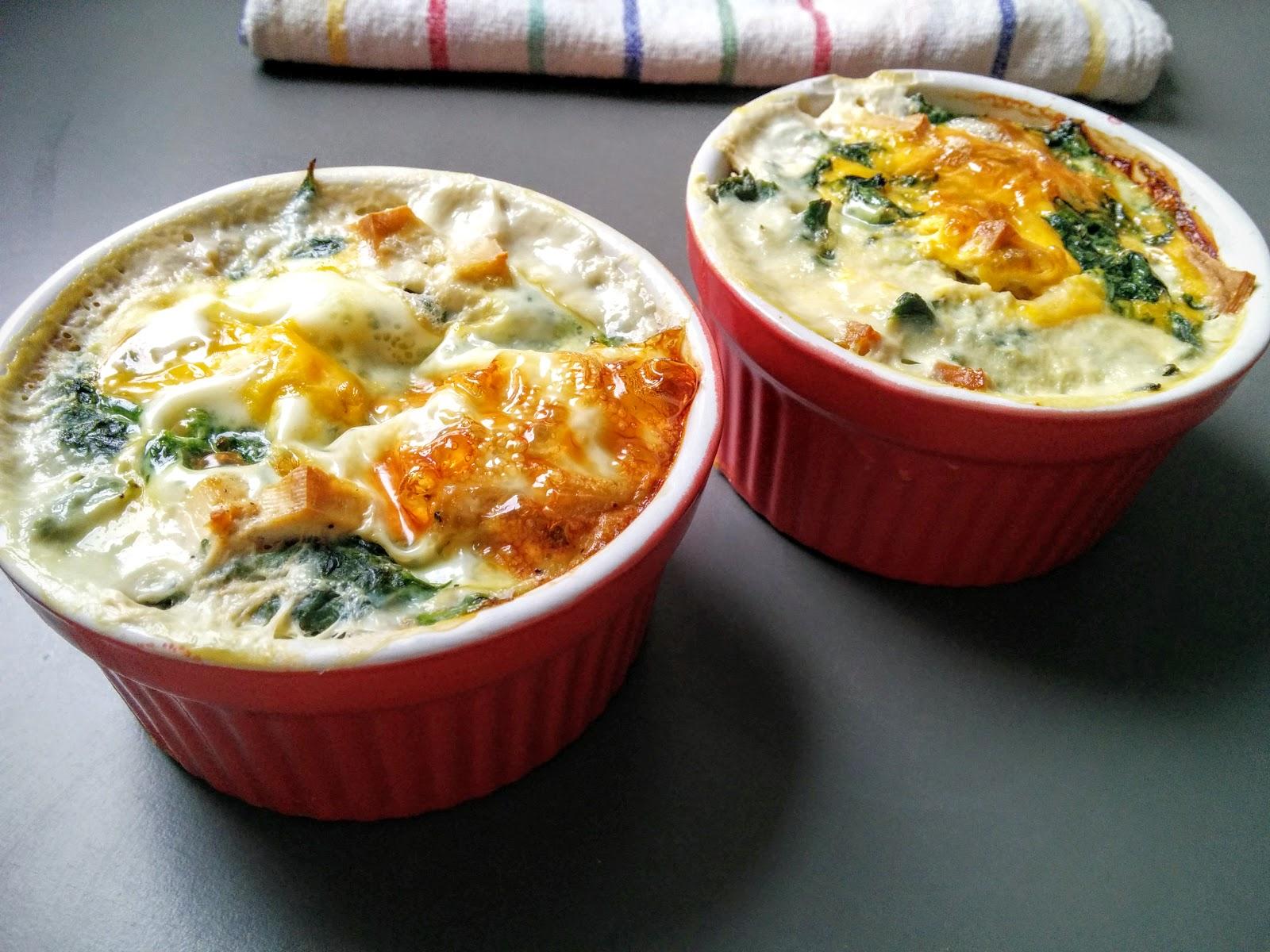 Bajnokok reggelije: Spenótos sült tojás