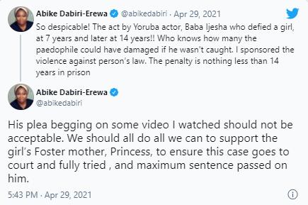 Baba Ijesha is so despicable - Abike Dabiri-Erewa reacts
