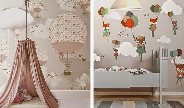 Style for moms carta da pareti per la nursery for Carta da parati bimbi