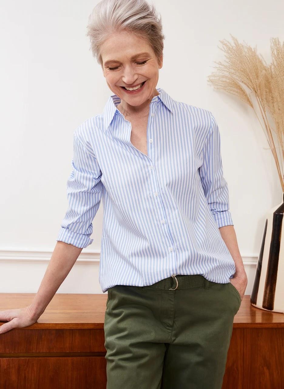 my midlife fashion, baukjen arbor shirt