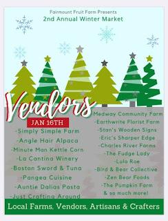 Winter Farmers Market - Jan 16 - vendor list