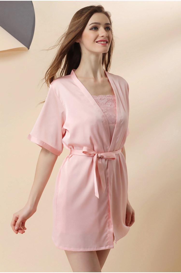 Áo choàng kèm váy lụa cup ngực cao cấp 9