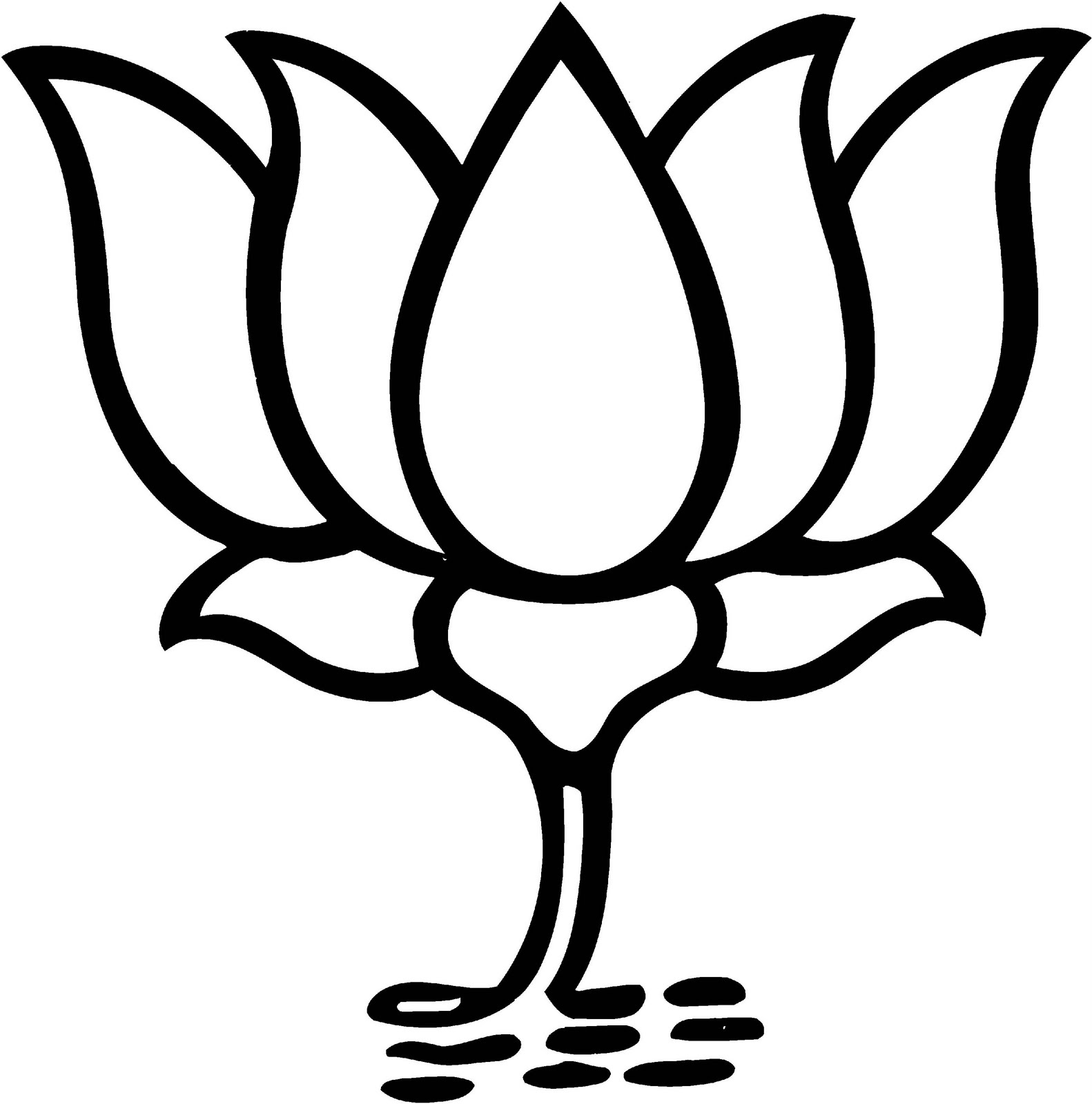 Clip Arts And Images Of India Political Party Flags Amp Symbols