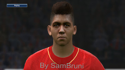 PES 2016 Roberto Firmino (Liverpool) Face By SamBruni