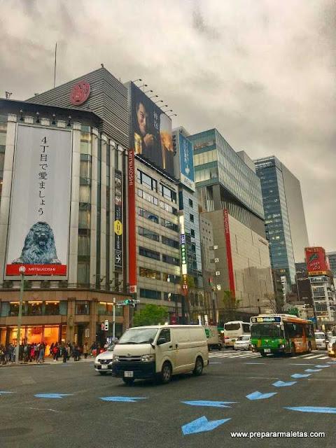 Barrio de Ginza en Tokio, autobús aeropuerto