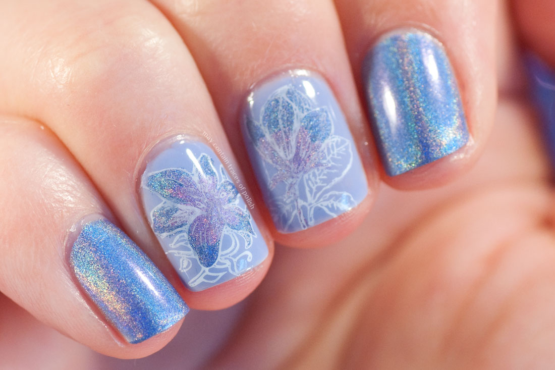 China Glaze 2NITE Holo Floral Nail Art