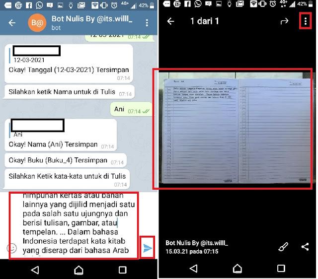 Cara menulis menggunakan Bot telegram