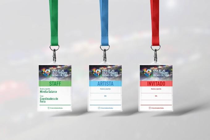 Credenciales para la Feria de las Colectividades Unidas Cultura