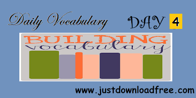 Learn Vocabulary with tricks Day 4