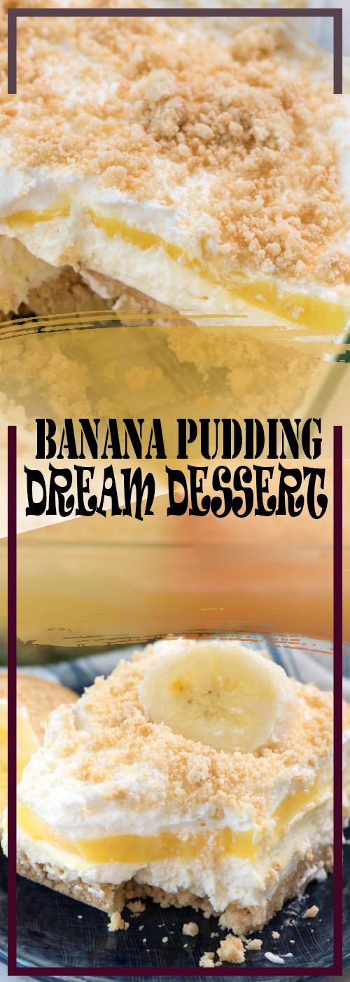 NO BAKE BANANA PUDDING DREAM DESSERT RECIPE