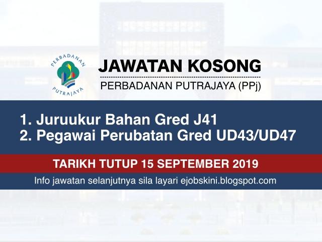 Jawatan Kosong Perbadanan Putrajaya Ppj Tarikh Tutup 15 September 2019