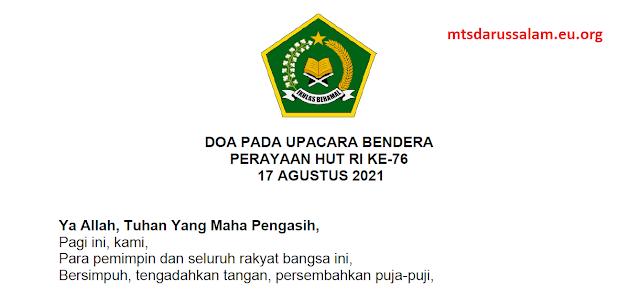 Do'a Pada Upacara Perayaan HUT RI Ke-76 Tahun 2021