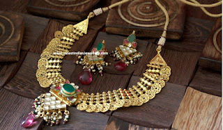 kundan filigree necklace