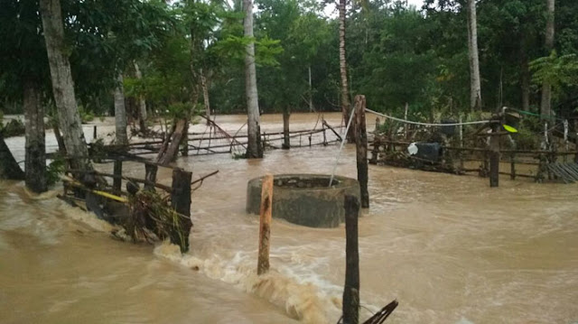 Hujan Deras Akibatkan Banjir di Sibulue
