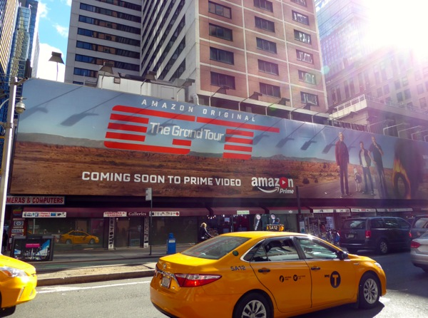 Grand Tour series premiere billboard NYC