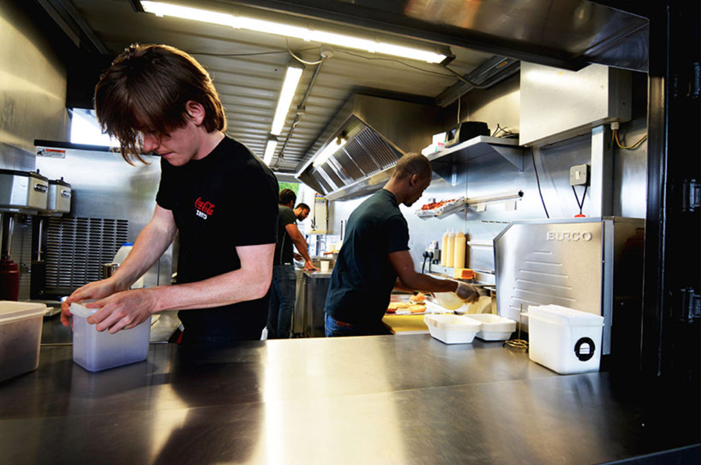 Container Restaurant In London Container Design Idea - Compact grill containers