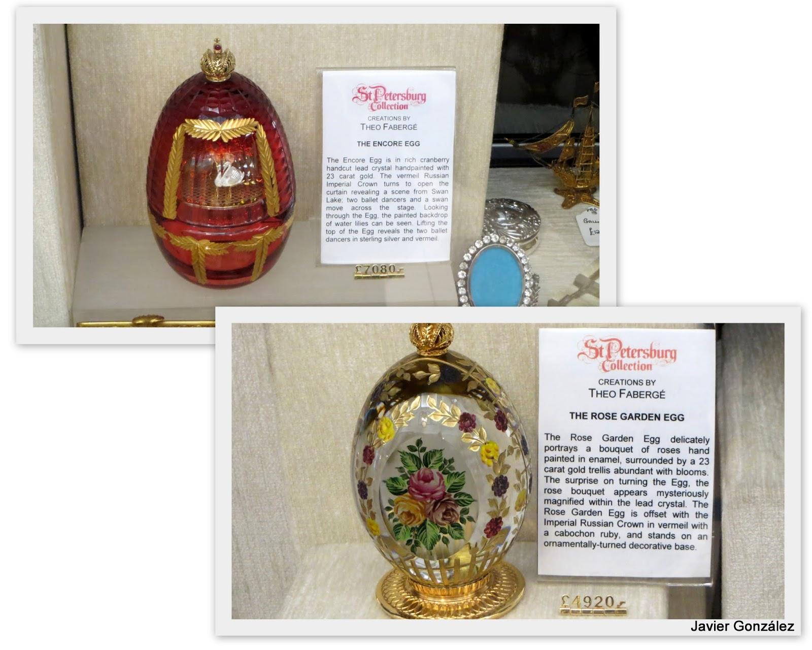 Londres. Colección San Petersburgo. Huevos Fabergé