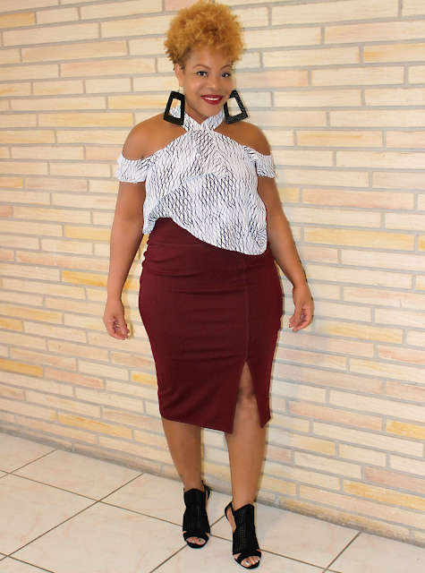 Printed Top Pencil Skirt
