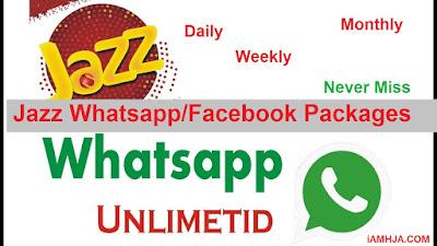 Jazz Whatsapp Packages, Jazz Facebook Packages