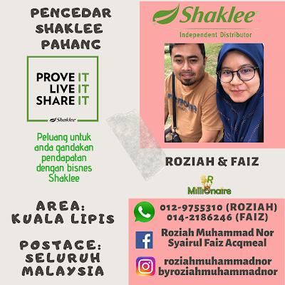 Pengedar Shaklee Kuala Lipis Ready Stock 0129755310