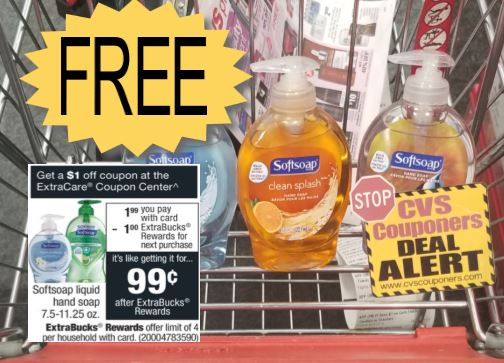 FREE Softsoap Liquid Hand Soap CVS Deal 11/17-11/23