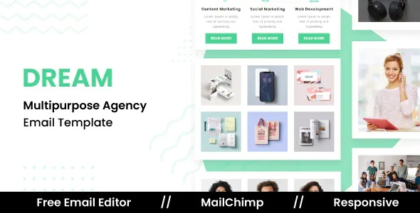 Best Responsive Email Template For Agency With Free Email Editor