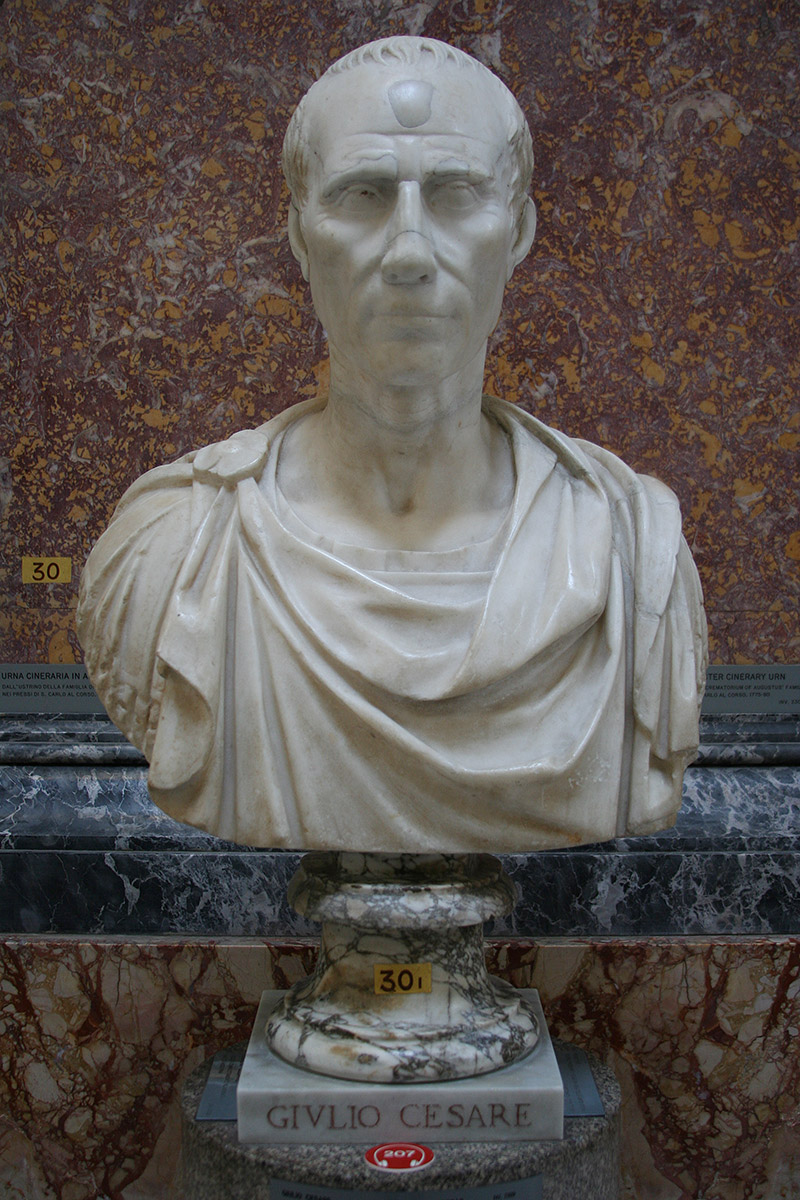 Marble bust of Caesar at the Vatican Museum