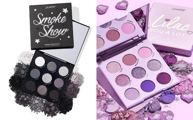 colourpop new Smoke Show and Lilac You A Lot Palette