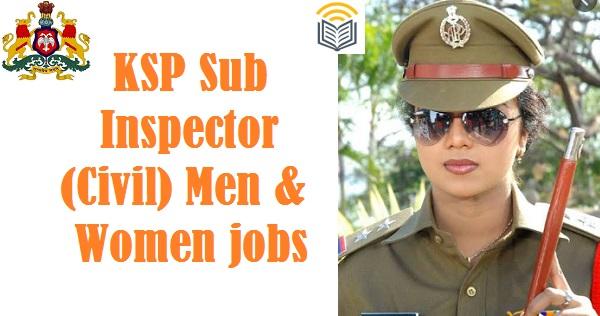 KSP PSI Civil Jobs 2021