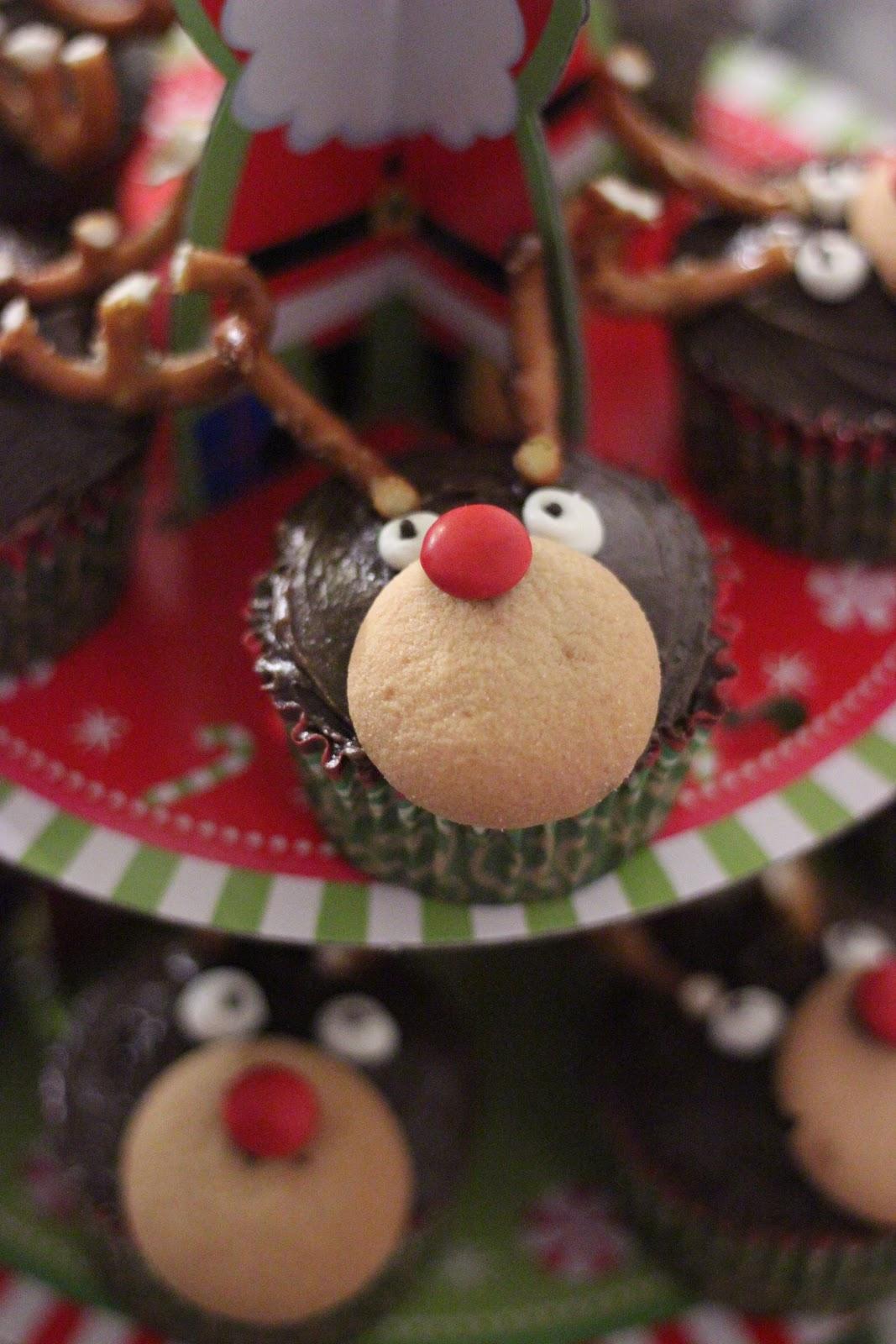 Rudolph Reindeer Cupcake