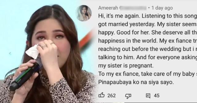 Moira Dela Torre naging emosyonal matapos mabasa ang 'PAUBAYA' story ng isang netizen.