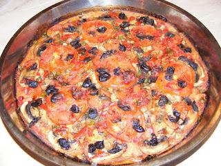 retete mancare reteta pizza de post cu legume pe blat de paine,