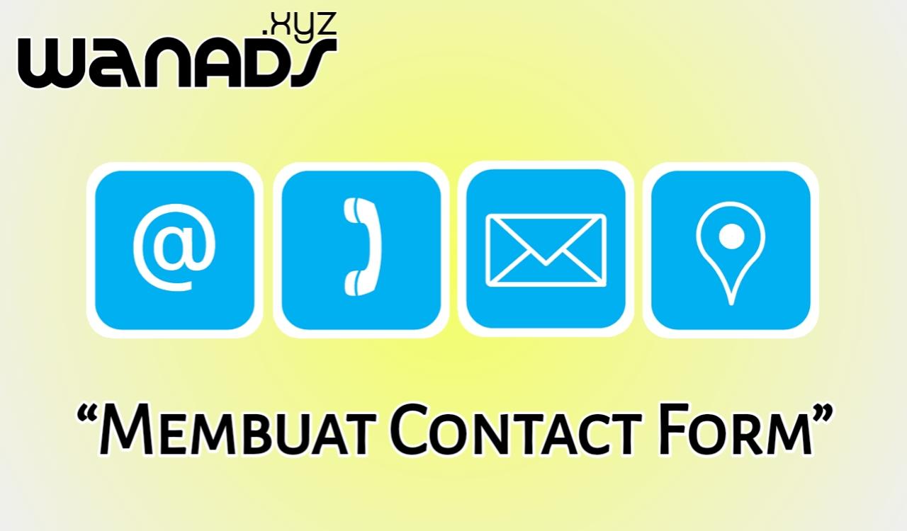 Cara Membuat Contact Form