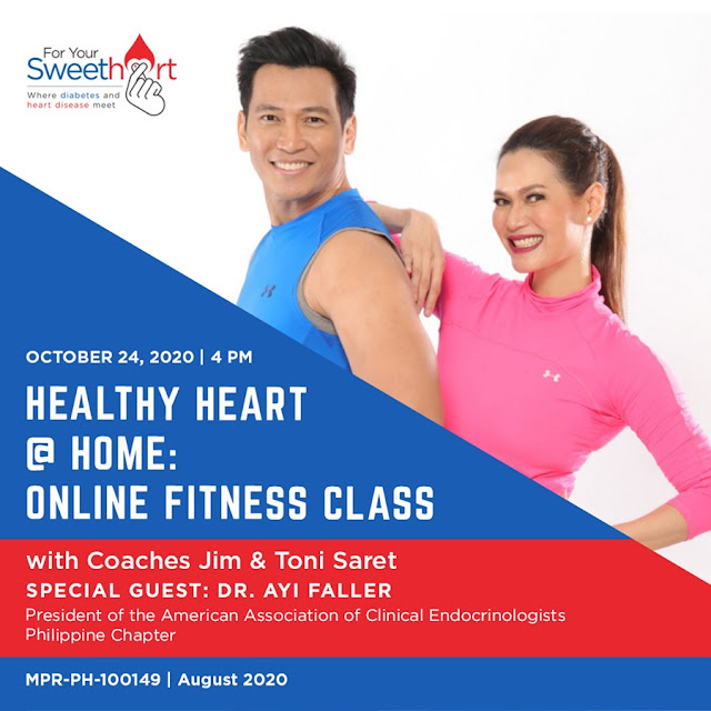"""Campanha """"For Your SweetHeart"""" através do evento online """"Healthy Heart At Home"""" 