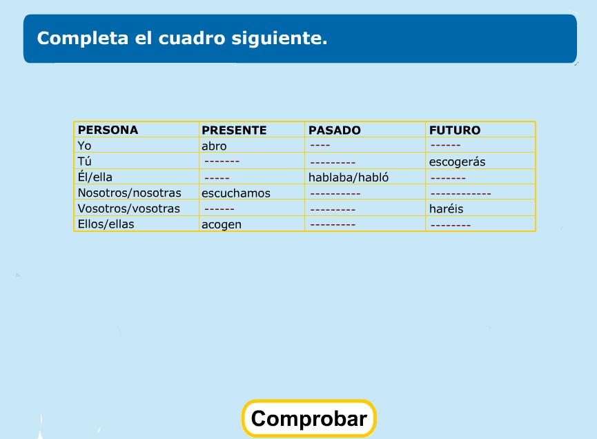 http://www.primerodecarlos.com/TERCERO_PRIMARIA/abril/Unidad10/lengua/actividades/pasado_presente_futuro/indice.swf