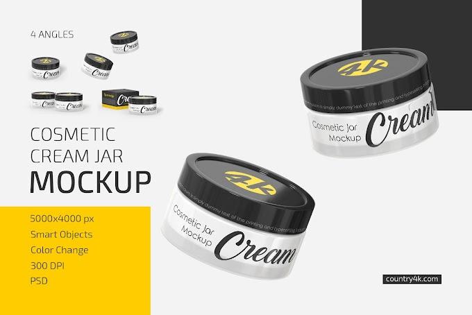 Cosmetic Cream Jar Mockup Set[Photoshop][5501866]