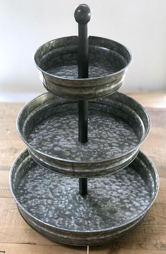 galvanized steel tiered tray