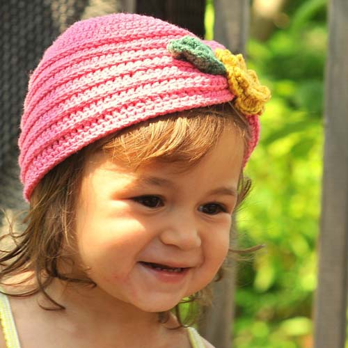 Toddler Turban with Flower - Free Pattern