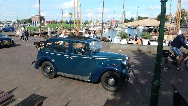 Driving the Austin Ten Conway to the Austin Club Holland. Elspeet Sept. 2021