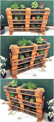 como hacer un jardin vertical con palets de madera para hierbas
