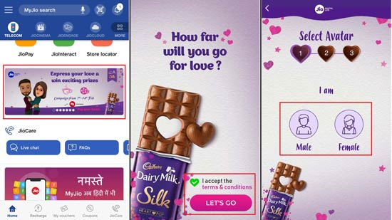 Jio Valentine's Day Offer Pop your Heart campaign