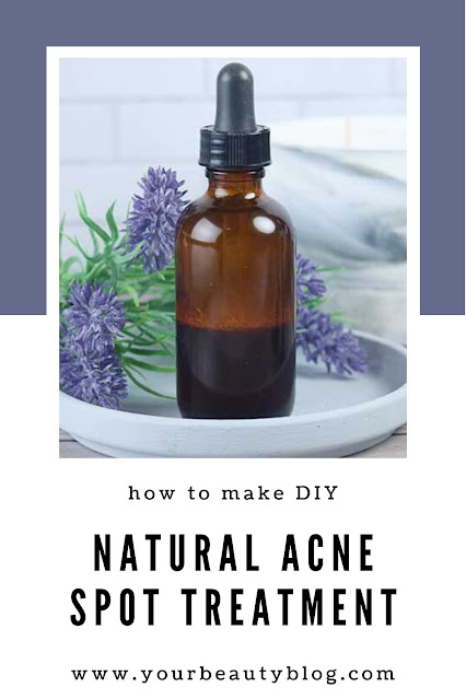 How to make a natural acne treatment recipe. This is a Dirty Lamb Tea Tree Wand dupe with cinnamon infused witch hazel and essential oils. This DIY has tea tree oil, lavender, and spearmint. Use as a spot treatment for the face or body. Use a home made acne spot treatment with your skincare routine to promote healing. This is one of the best homemade recipes for acne!  #acne #spottreatment #diy #homemade #essentialoils