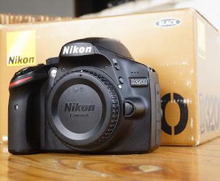 Kamera 2nd Malang - Nikon D3200 SC Rendah