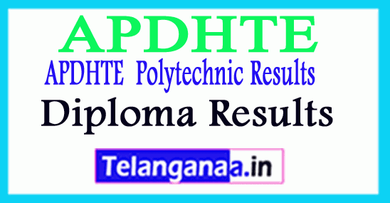 APDHTE Diploma Result  CSE IT Diploma APDHTE Result