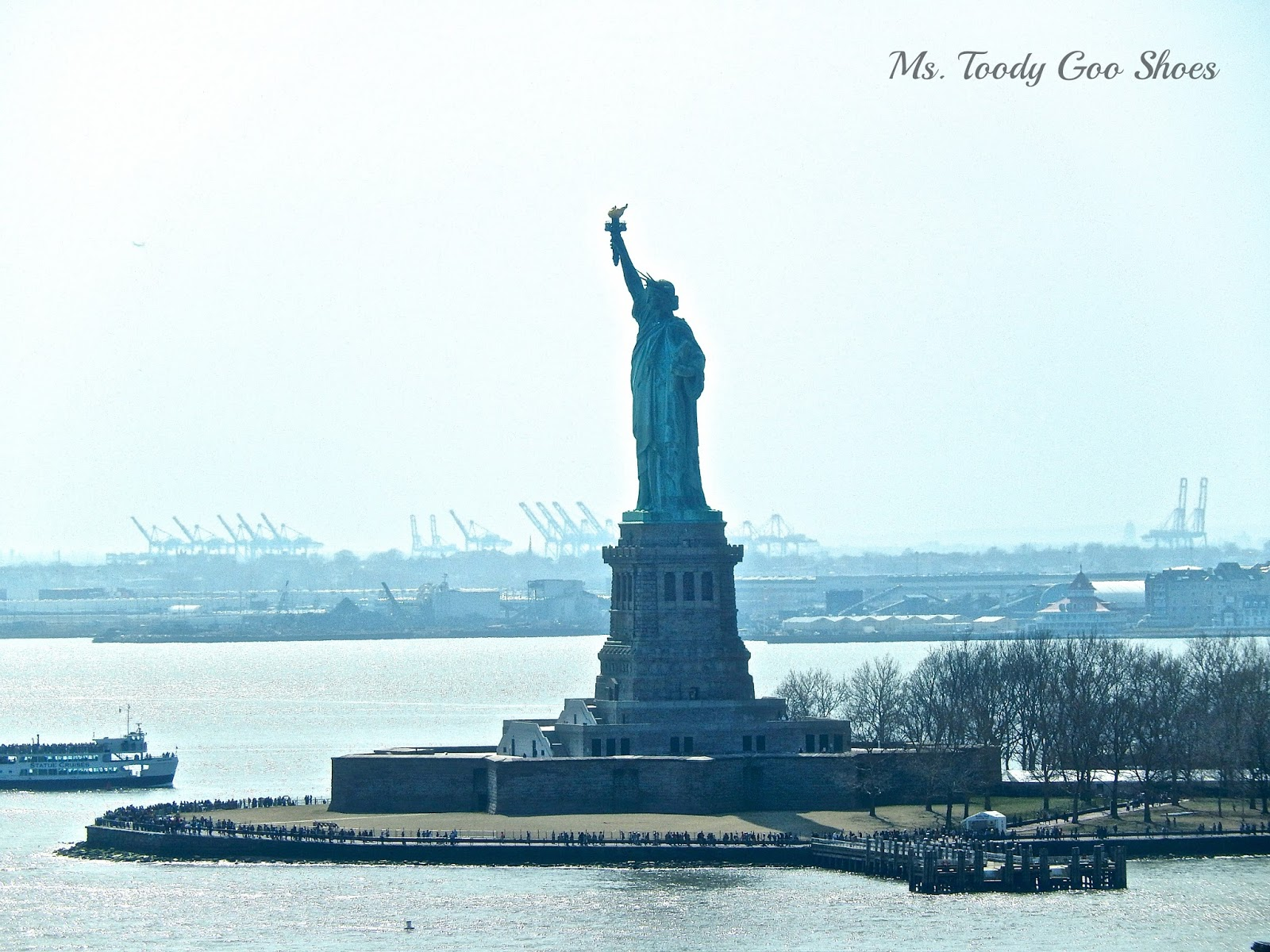 Statue of Liberty from Norwegian Breakaway Cruise Ship  --- Ms. Toody Goo Shoes