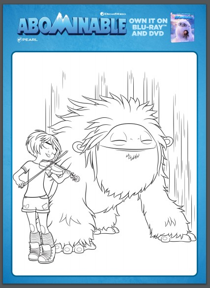 Abominable Activity Sheet Colouring