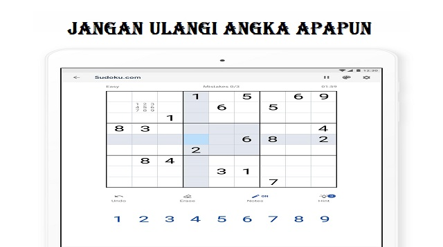 Cara Bermain Sudoku Untuk Pemula