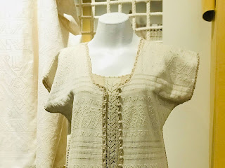 blusa de mujer brocado, bordado, algodón