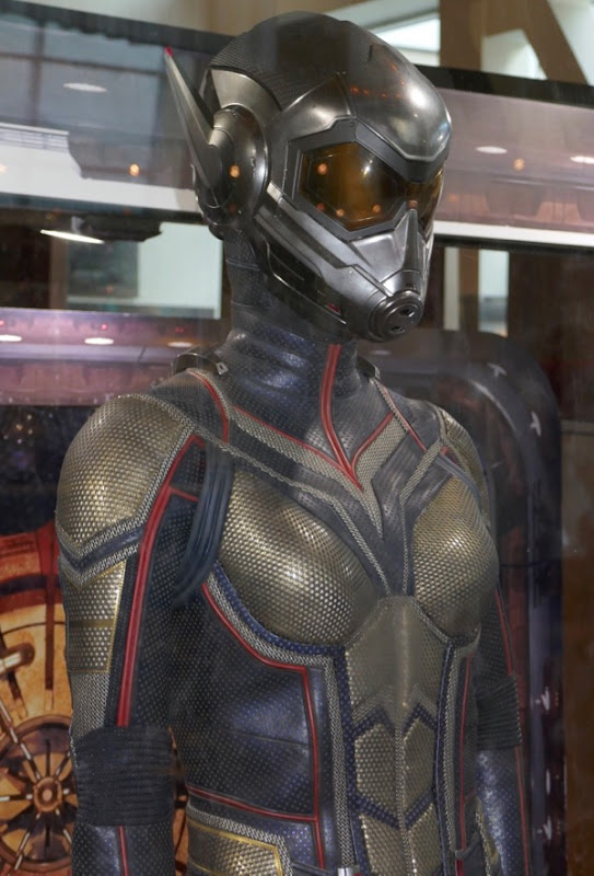 Evangeline Lilly Wasp movie costume detail