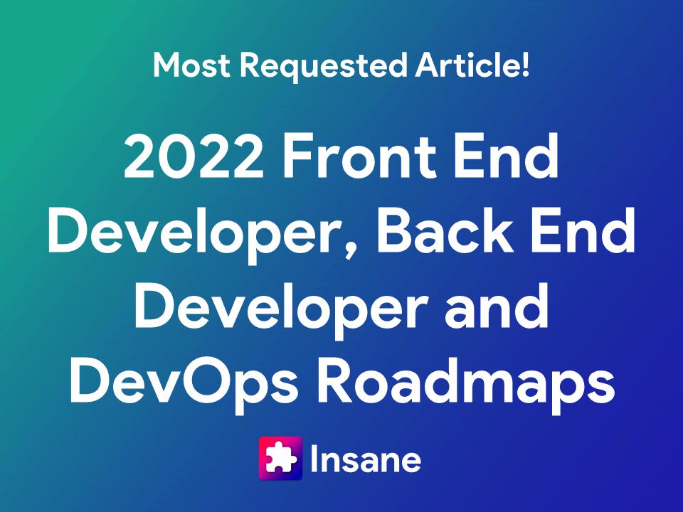 Web Developer Roadmap 2022 - Latest Front end Developer Roadmap, back end developer roadmap and Devops roadmap